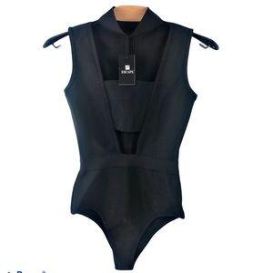 NWT Escape One Piece Black Zip Back Swimsuit XS